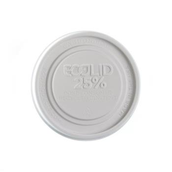 ECOEPBRSCLIDL - Eco-Products - EP-BRSCLID-L - 12-32 oz White EcoLid® Hot Lid Product Image