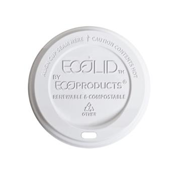 56104 - Eco-Products - EP-ECOLID-8 - 8 oz EcoLid® Renewable and Compostable Hot Cup Lids Product Image