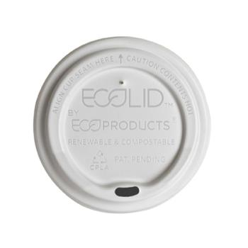 56124 - Eco-Products - EP-ECOLID-N20 - 20 oz EcoLid® Compostable Hot Cup Lids Product Image