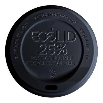 56191 - Eco-Products - EP-HL16-BR - 10-20 oz Black EcoLid® Recycled Content Hot Cup Lids Product Image