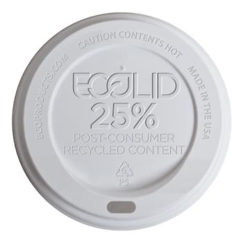 56190 - Eco-Products - EP-HL16-WR - 10-20 oz White EcoLid® Recycled Content Hot Cup Lids Product Image