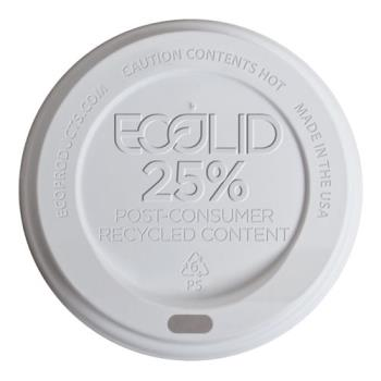 57187 - Eco-Products - EP-HL8-WR - 8 oz EcoLid® WhitePost-Consumer Recycled Content Hot Cup Lids Product Image