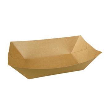 1377 - Bagcraft - 300699 - 3 lb Compostible Paper Food Tray Product Image