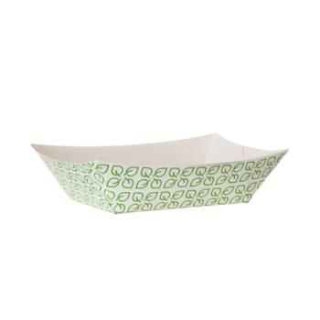 56319 - Eco-Products - EP-FT1-W - 1 lb Leaf Design Renewable Food Tray Product Image