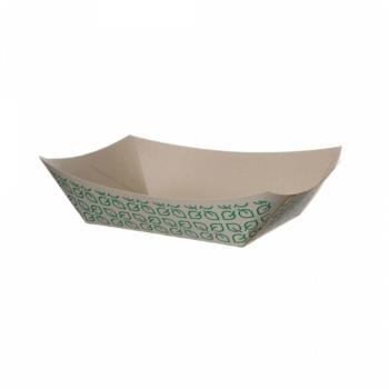 56308 - Eco-Products - EP-FT200 - 2 lb Leaf Design Renewable Food Tray Product Image