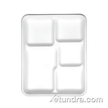 59665 - Eco-Products - EP-PT5 - 5 Compartment Sugarcane Tray Product Image