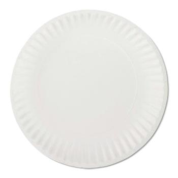 "57201 - AJM Packaging - PP6GRNWH - 6"" Paper Plates Product Image"