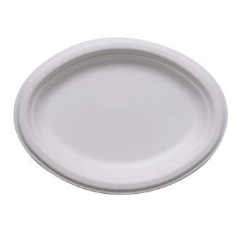 56177 - Eco-Products - EP-P009 - 10 in Oval Sugarcane Plates Product Image