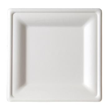 59298 - Eco-Products - EP-P022 - 8 in Medium square sugarcane plate Product Image