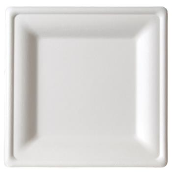 59299 - Eco-Products - EP-P023 - 10 in Large square sugarcane plate Product Image