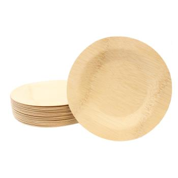 TABBAMDRP11 - Tablecraft - BAMDRP11 - 11 in Disposable Round Bamboo Plate Product Image