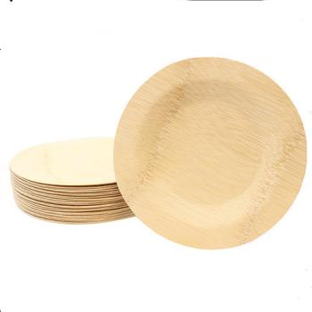 TABBAMDRP7 - Tablecraft - BAMDRP7 - 7 in Disposable Round Bamboo Plate Product Image