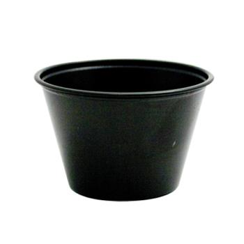58758 - Solo - P400E-BLK - 4 oz Black Plastic Soufflé Portion Cup Product Image