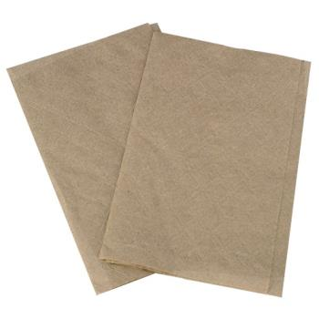 57259 - Karat - KN-F86-2K - 8 in x 6 1/2 in Kraft Interfold Napkins Product Image