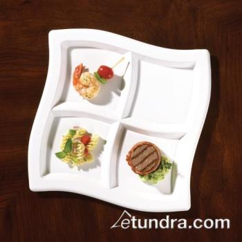EMIWCP10WH - EMI Yoshi - EMI-WCP10 - White Square 4 Compartment Plate Product Image
