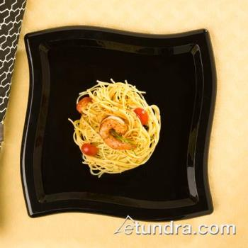 "EMIWP10BK - EMI Yoshi - EMI-WP10 - 10"" Square Wave Black Dinner Plate Product Image"