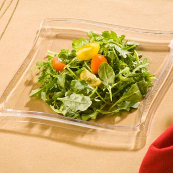 "EMIWP7CL - EMI Yoshi - EMI-WP7 - 7"" Square Wave Clear Salad Plate Product Image"