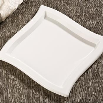 "EMIWP9WH - EMI Yoshi - EMI-WP9 - 9"" Square Wave White Luncheon Plate Product Image"
