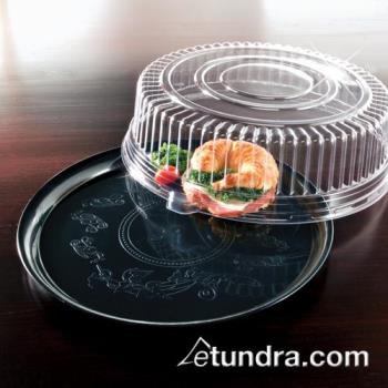 "EMI240CP - EMI Yoshi - EMI-240CP - 14"" Black Round Deli Tray w/OPS Clear Lid Product Image"