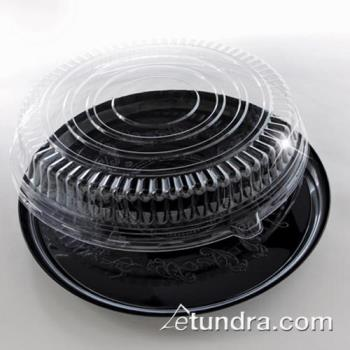"EMI260CPP - EMI Yoshi - EMI-260CPP - 16"" Black Round Deli Tray w/PET Clear Lid Product Image"