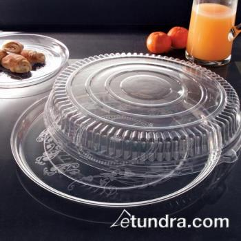 "EMI280CP - EMI Yoshi - EMI-280CP - 18"" Clear Round Deli Tray w/OPS Clear Lid Product Image"