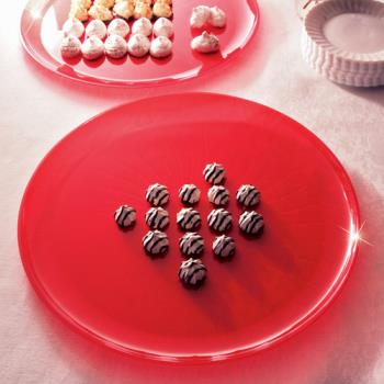 "EMI480R - EMI Yoshi - EMI-480 - 18"" Red Round Party Tray Product Image"
