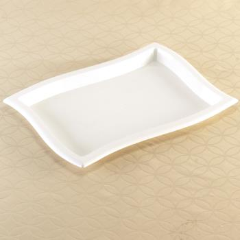 "EMIWT1014WH - EMI Yoshi - EMI-WT1014 - 10"" x 14"" Rectangle Wave White Tray Product Image"