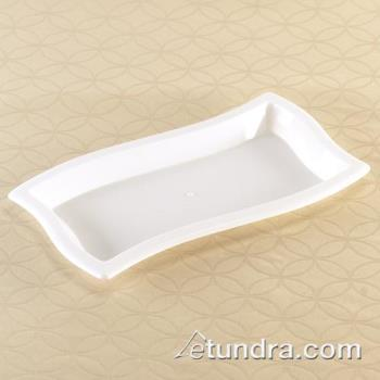 "EMIWT612WH - EMI Yoshi - EMI-WT612 - 6"" x 12"" Rectangle Wave White Tray Product Image"