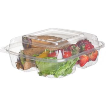 "57140 - Eco-Products - EP-LC83 - 8"" 3-Compartment Clamshells Product Image"