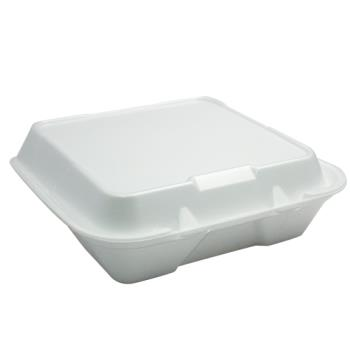"58879 - Genpak - SN200 - 9"" x 9"" x 3"" 1- Compartment Styrofoam Clamshell Product Image"