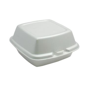 "58312 - Genpak - SN225 - 5 3/4"" 1-Compartment Styrofoam Clamshell Product Image"