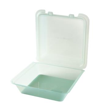 GETEC021JA - GET Enterprises - EC-02-1-JA - Eco-Takeouts Jade 9 in x 9 in x 3 1/2 in 1-Comp Container Product Image