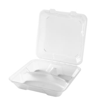 GETEC061CL - GET Enterprises - EC-06-1-CL - Eco-Takeouts 9 in x 9 in x 2 3/4 in 3-Comp Container Product Image