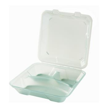 GETEC061JA - GET Enterprises - EC-06-1-JA - Eco-Takeouts Jade 9 in x 9 in x 2 3/4 in 3-Comp Container Product Image