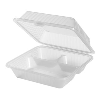 GETEC091CL - GET Enterprises - EC-09-1-CL - Eco-Takeouts 9 in x 9 in x 3 1/2 in 1-Comp Container Product Image
