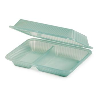 GETEC151JA - GET Enterprises - EC-15-1-JA - Eco-Takeouts Jade 2-Comp Container Product Image