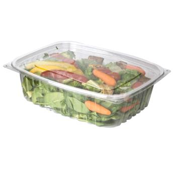 57146 - Eco-Products - EP-RC48 - 48 oz PLA Rectangular Deli Containers with  Lids Product Image