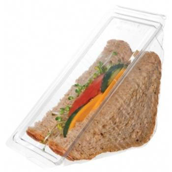 "59084 - Eco-Products - EP-SWH3 - 3"" Compostable Sandwich Wedge Container Product Image"