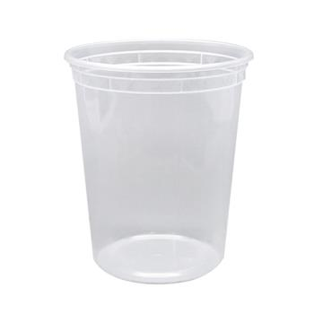 57291 - Karat - FP-IMDC32-PP - 32 oz Clear Poly Deli Containers w/ Lids Product Image