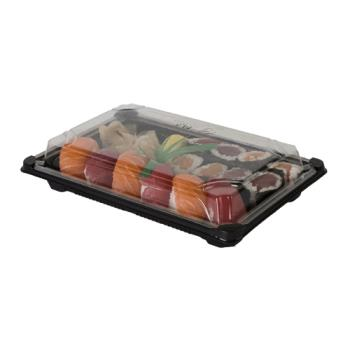"57152 - Eco-Products - EP-SH3-CPK - 6"" x 9"" PLA Sushi Containers with  Lids Product Image"