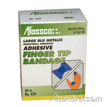 52208 - Afassco - 439 - 2 in Blue Fingertip Bandage with Metal Strip Product Image