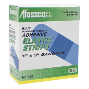 52206 - Afassco - 488 - Non-Metalic 1 in (W) x 3 in (L) Blue Strip Bandage Product Image