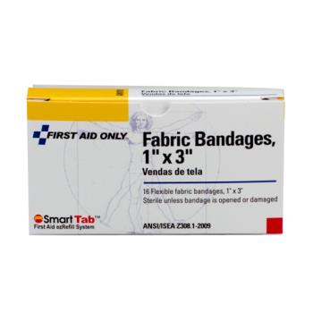 54124 - First Aid Only - 1-008 - 1 in (W) x 3 in (L) Fabric Bandage Product Image