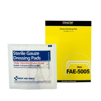 54082 - First Aid Only - FAE-5005 - 3 in x 3 in Gauze Pad Product Image