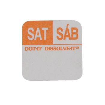 81445 - Commercial - Dissolve-It 1 in x 1 in Saturday Label Product Image
