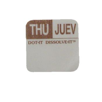 81443 - Commercial - Dissolve-It 1 in x 1 in Thursday Label Product Image