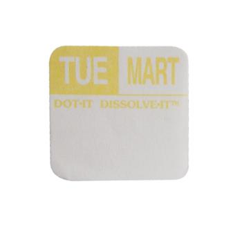 81441 - Commercial - Dissolve-It 1 in x 1 in Tuesday Label Product Image