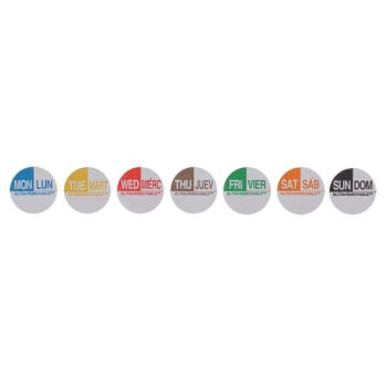 81427 - Commercial - Ultra-Removable 1 in Round 7 Day Labels Product Image