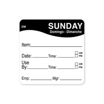 81486 - DayMark - 1100537 - DissolveMark 2 in x 2 in Sunday Use By Label Product Image
