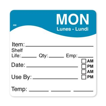 DAY1100611 - DayMark - 1100611 - MoveMark 2 1/2 in x 2 1/2 in Monday Shelf Life Label Product Image
